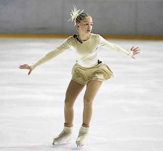 krasobruslařka na ledě