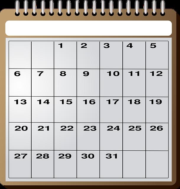 měsíční kalendář