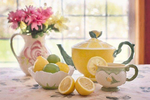 Čaj a citrony