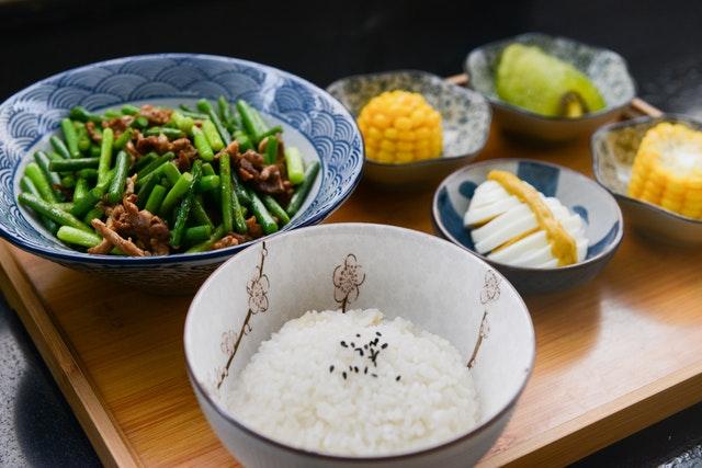jídlo, zelenina, misky